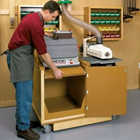 Woodworking Project Paper Plan to Build Dual-Purpose Sanding Center
