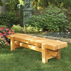 Woodworking Project Paper Plan to Build Durable, Doable Outdoor Bench