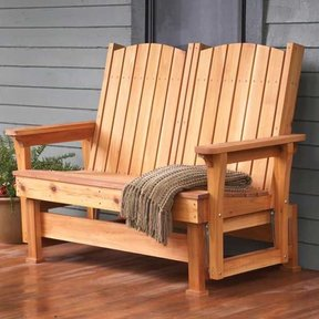 woodworking project paper plan to build easy breezy glider - Glider Bench