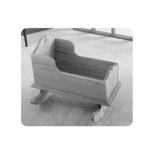 View a Larger Image of Woodworking Project Paper Plan to Build Easy Doll Cradle