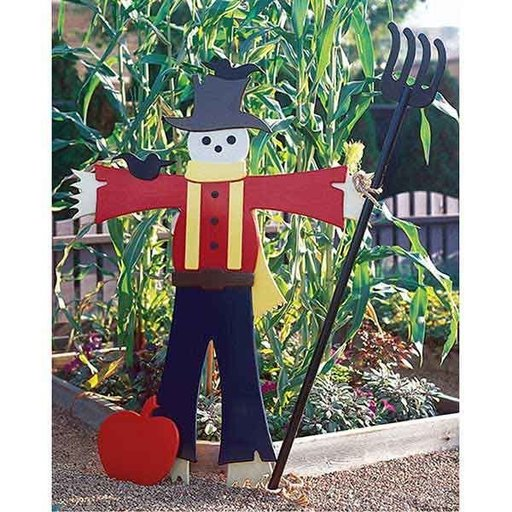 View a Larger Image of Woodworking Project Paper Plan to Build Easy Going Scarecrow