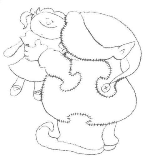 View a Larger Image of Woodworking Project Paper Plan to Build Elf Kissing Doll