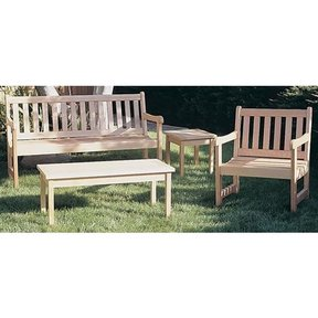 Woodworking Project Paper Plan to Build English Garden Chair, Plan No. 856