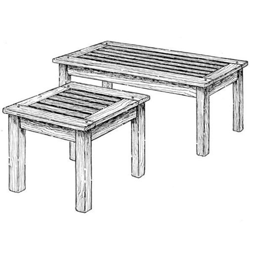 View a Larger Image of Woodworking Project Paper Plan to Build English Garden Tables