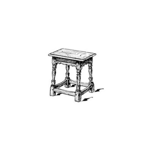 View a Larger Image of Woodworking Project Paper Plan to Build English Joint Stool Plan No.2