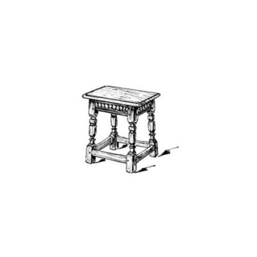 View a Larger Image of Woodworking Project Paper Plan to Build English Joint Stool