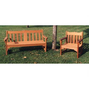 Woodworking Project Paper Plan to Build English Style Garden Bench and Chair