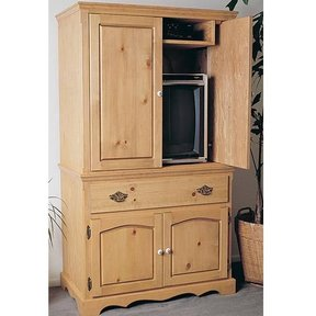 Woodworking Project Paper Plan To Build Entertainment Center/Armoire Plan