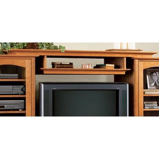 View a Larger Image of Woodworking Project Paper Plan to Build Entertainment Center Bridge and Shelf