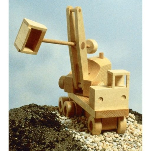 View a Larger Image of Woodworking Project Paper Plan to Build Excavator (Steam Shovel)