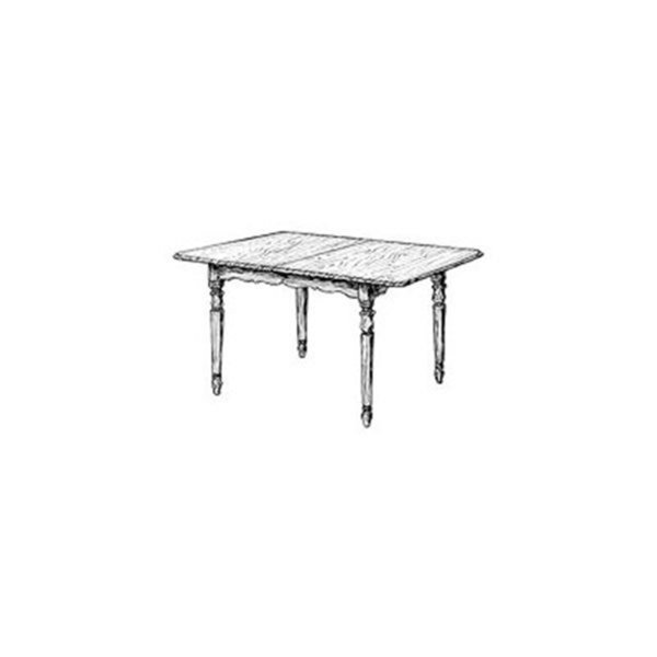 Woodworking project paper plan to build extension dining table for Dining table plan view