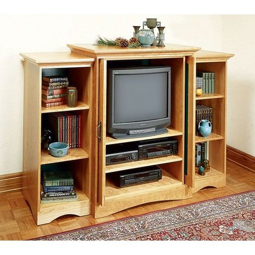 View a Larger Image of Woodworking Project Paper Plan to Build Extravaganza Entertainment Center