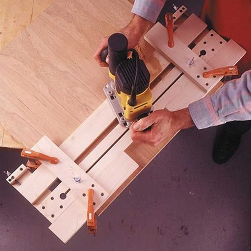 View a Larger Image of Woodworking Project Paper Plan to Build Fail-Safe Router Jig