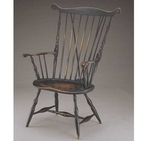 Woodworking Project Paper Plan to Build Fan Back Windsor Arm Chair, AFD107