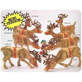 Woodworking Project Paper Plan to Build Fine Mini Reindeer