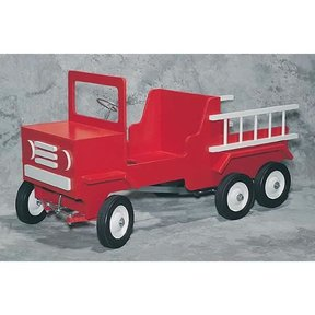 Woodworking Project Paper Plan to Build Fire Truck Pedal Car, Plan No. 899