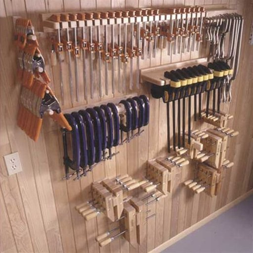 View a Larger Image of Woodworking Project Paper Plan to Build Five Great Clamp Organizers