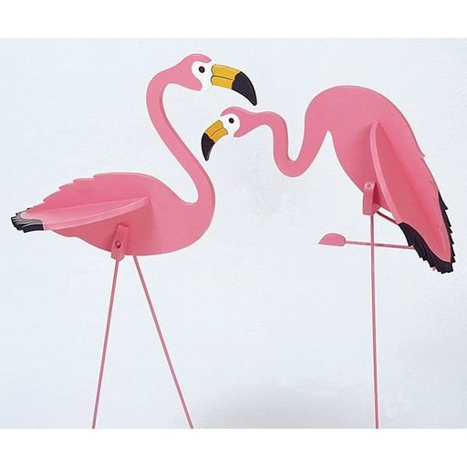 View a Larger Image of Woodworking Project Paper Plan to Build Flamingos