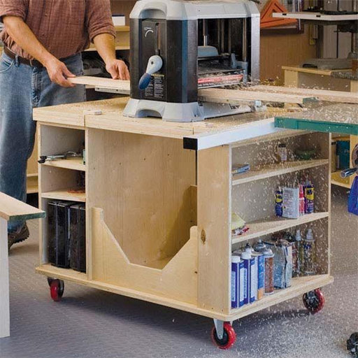 View a Larger Image of Woodworking Project Paper Plan to Build Flip-Top Cart