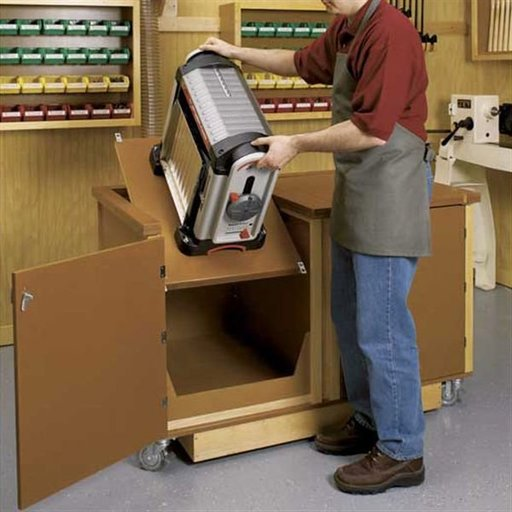 View a Larger Image of Woodworking Project Paper Plan to Build Flip-Top Work Center