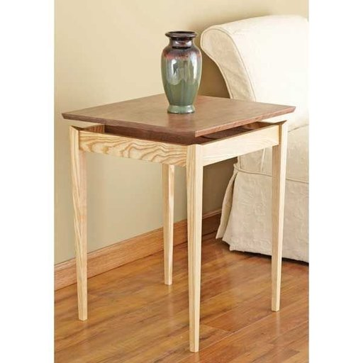 View a Larger Image of Woodworking Project Paper Plan to Build Floating-top Table