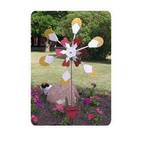 Woodworking Project Paper Plan to Build Flower Pot Windmill