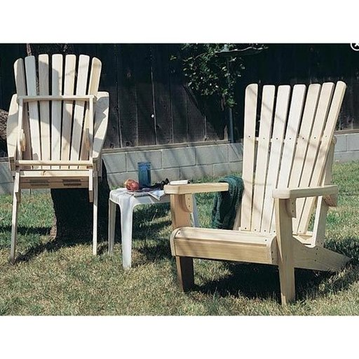 View a Larger Image of Woodworking Project Paper Plan to Build Folding Adirondack Chair Plan