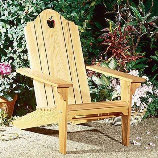 View a Larger Image of Woodworking Project Paper Plan to Build Folding Adirondack Chair