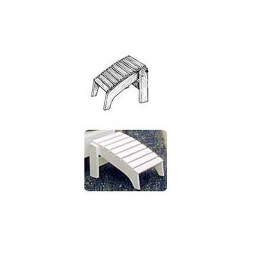 View a Larger Image of Woodworking Project Paper Plan to Build Folding Adirondack Footrest