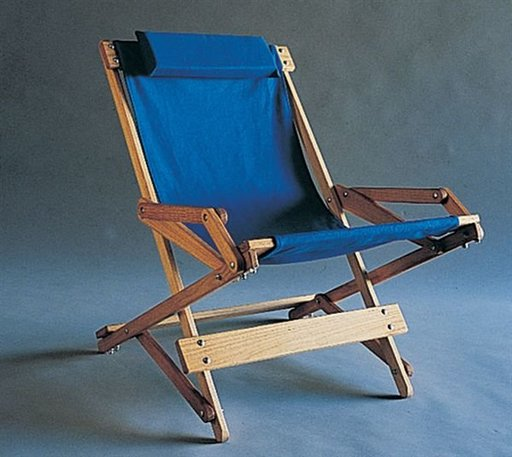 View a Larger Image of Woodworking Project Paper Plan to Build Folding Patio Rocker, Plan No. 790