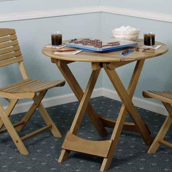 Woodworking project paper plan to build folding table for Folding table woodworking plans