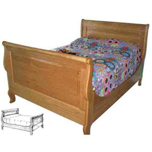 View a Larger Image of Woodworking Project Paper Plan to Build French American Sleigh Bed