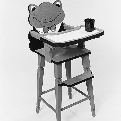 View a Larger Image of Woodworking Project Paper Plan to Build Froggy High Chair, Plan No. 525