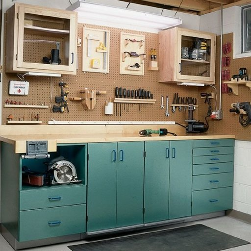 View a Larger Image of Woodworking Project Paper Plan to Build Full-Service Workbench
