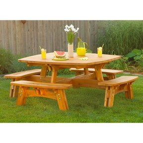 woodworking project paper plan to build picnic table benches