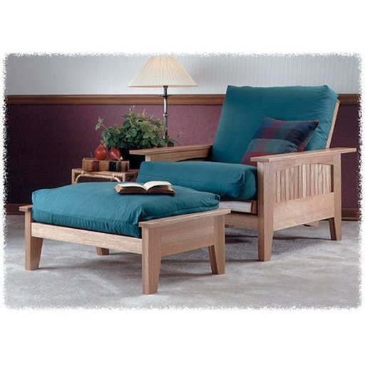 View a Larger Image of Woodworking Project Paper Plan to Build Futon Chair & Ottoman