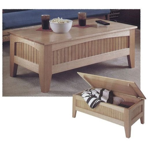 View a Larger Image of Woodworking Project Paper Plan to Build Futon Table
