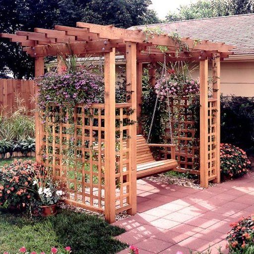 View a Larger Image of Woodworking Project Paper Plan to Build Garden Arbor Getaway