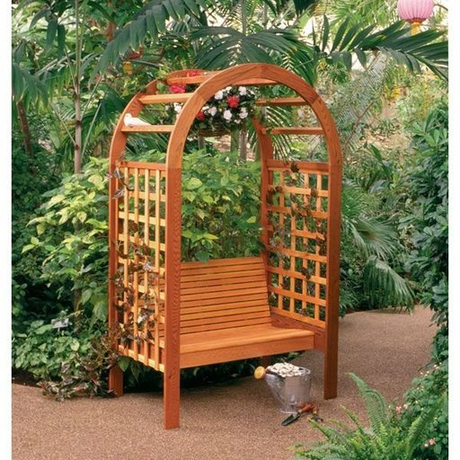 View a Larger Image of Woodworking Project Paper Plan to Build Garden Arbor
