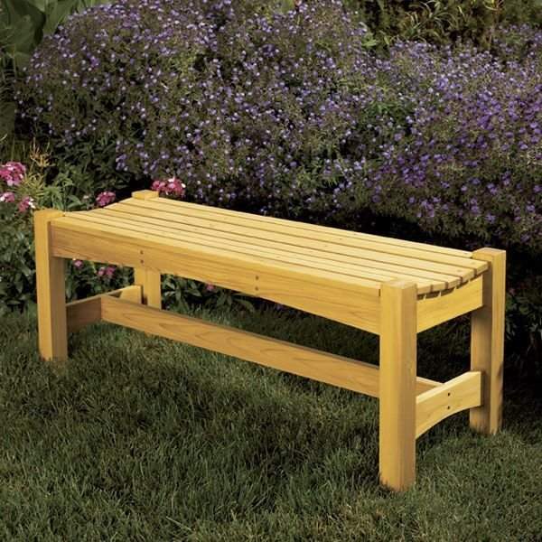 Woodworking Project Paper Plan to Build Garden Bench – Wood Patio Bench Plans