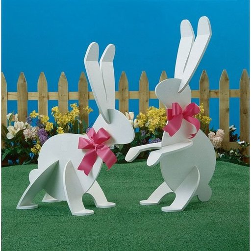 View a Larger Image of Woodworking Project Paper Plan to Build Garden Wabbits