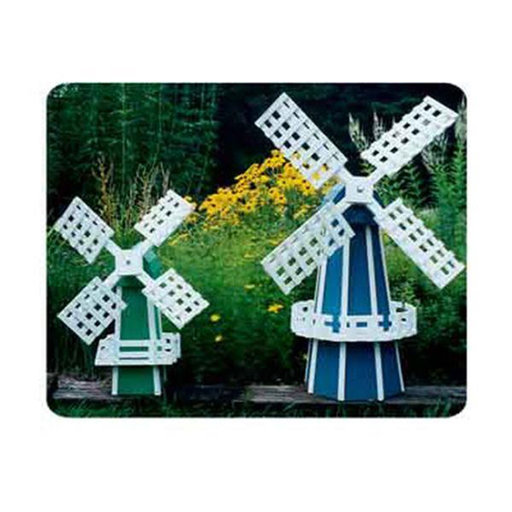 View a Larger Image of Woodworking Project Paper Plan to Build Garden Windmill 2 Pack