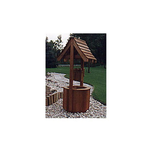 View a Larger Image of Woodworking Project Paper Plan to Build Garden Wishing Well