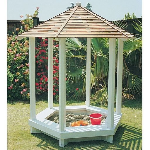 View a Larger Image of Woodworking Project Paper Plan to Build Gazebo Sandbox, Plan No. 792