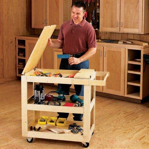 View a Larger Image of Woodworking Project Paper Plan to Build Getr-Done Shop Cart