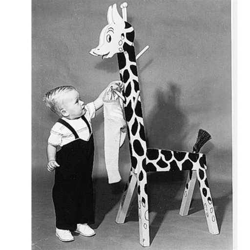 View a Larger Image of Woodworking Project Paper Plan to Build Giraffe Clothes Rack, Plan No. 113