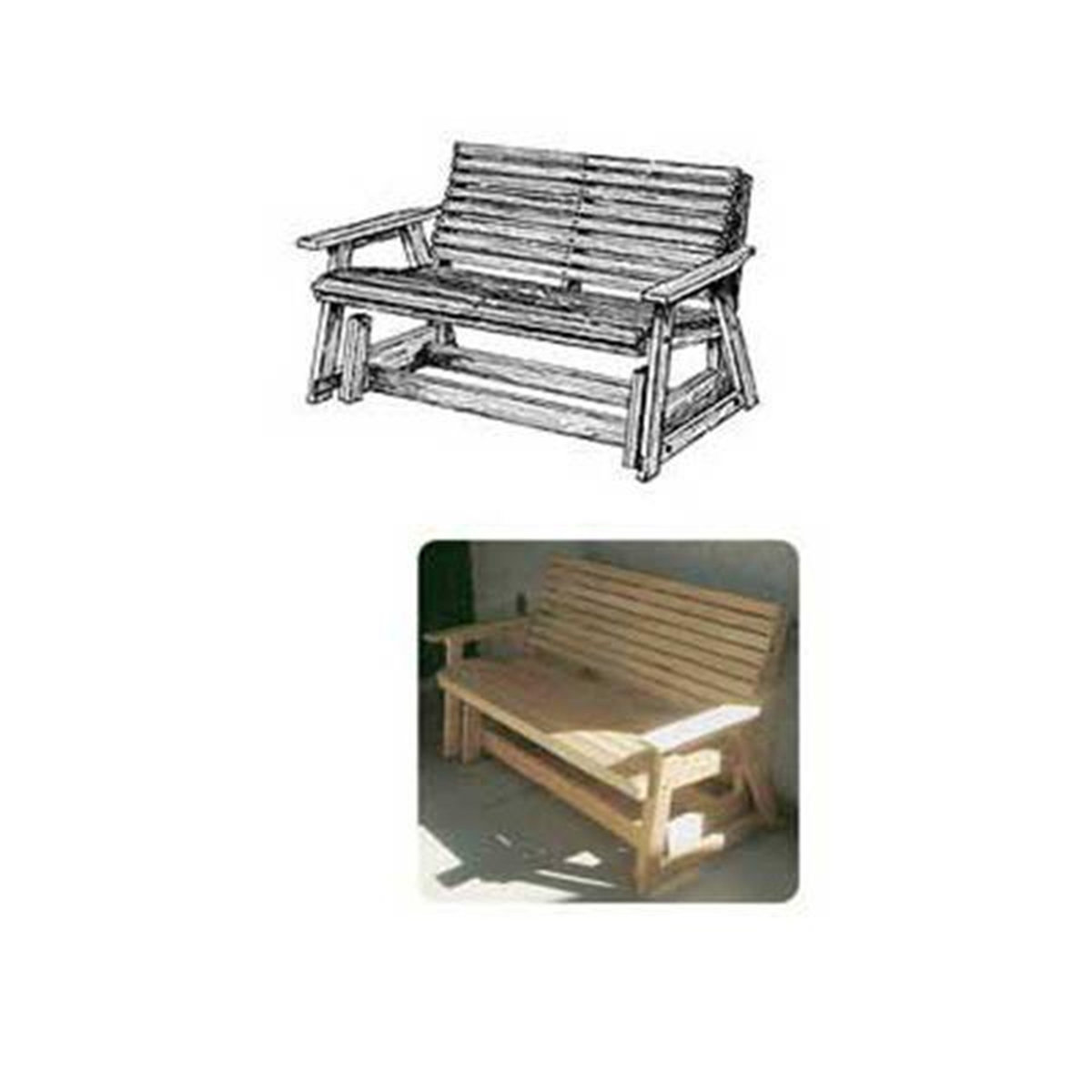 Woodcraft Woodworking Project Paper Plan To Build Glider Bench