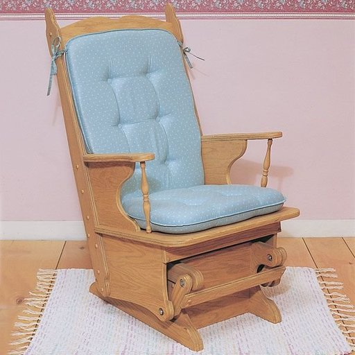 View a Larger Image of Woodworking Project Paper Plan to Build Glider Rocker, Plan No. 853