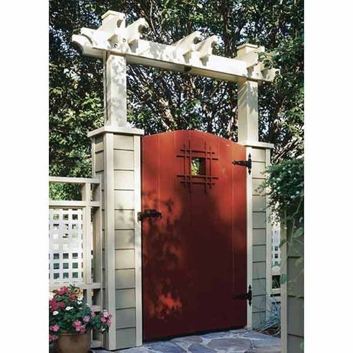 View a Larger Image of Woodworking Project Paper Plan to Build Grand Entrance Garden Gate