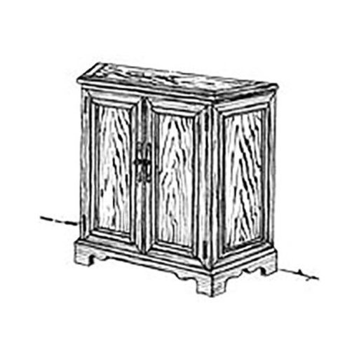 View a Larger Image of Woodworking Project Paper Plan to Build Hall Cabinet